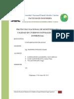 Protocologo de Monitoreo de Cuerpo de Agua 1