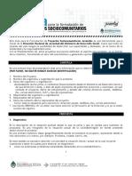 Guia Para Formulación de Proyecto Sociocomunitario