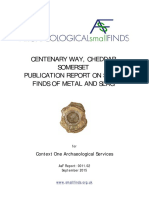 Schuster, J., 2015, Centenary Way, Cheddar, Somerset – Publication Report on small finds of metal and slag. AsF Report 0011.02
