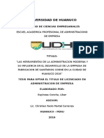 HERRAMIENTAS DE LA ADMINISTRACIÓN MODERNA Y DESARROLLO EMPRESARIAL