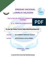 Plan de Practicas Pre