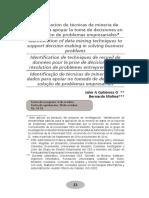 Identificacion de Las Tecnica de Mineria de Datos Para Apoyar La Toma de Dicisiones Empresaarials