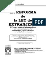 La Reforma de La Ley de Extranjeria en España 2001