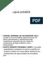Agua Potable.- Instalaciones Sanitarias