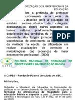 Politica Nacional de Formacao de Professores Da Educacao Basica