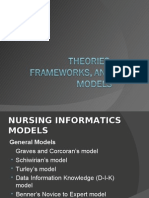 Theories, Frameworks, And Models