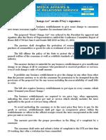 "june24.2016""Exact Change Act"" awaits PNoy's signature"