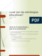 Qué Son Las Estrategias Educativas