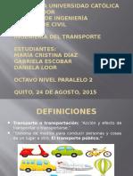 Historia de Los Caminos Transportes