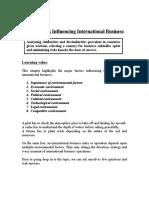 3 Key Factors Influencing International Business