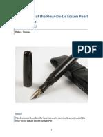 Mechanism of the Fleur-De-Lis Edison Pearl Fountain Pen