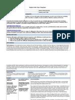 digital unit plan template - the great gatsby