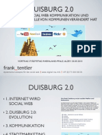 DUISBURG 2.0 WIE DAS SOCIAL WEB KOMMUNIKATION UND GESCHÄFTSMODELLE VON KOMMUNEN VERÄNDERT HAT