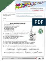 2011 1o Ano Prova Bimestral 4 Caderno 4 Lingua Portuguesa Matematica