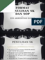 Format Penulisan Sk Dan Sop