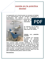 La Ergonomia en La Práctica Dental