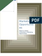 Marketing Opportunities Report