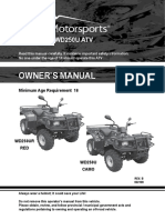 72 OWNERS MANUAL - WD250U-L - Wilderness Trail 250cc ATV Owners Manual Canadian Model VIN Prefix LLCL