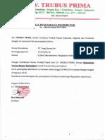 Surat Penunjukan Distributor587