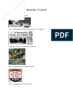 world war 1 timeline example