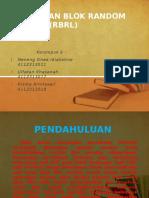 PPT Rancangan Blok Random Lengkap (RBRL)