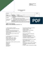 Evaluación Semestral 4to
