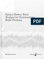 Hewlett-Packard - Using a Narrow Band Analyzer for Characterizing Audio Products (AN192) (10-1975)