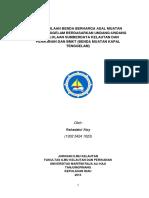 Pphl;Uts;Artikel Pengelolaan Benda Berharga Asal Muatan Kapal Tenggelam Berdasarkan Undang-undang Pengelolaan Sumberdaya Kelautan Dan Perikanan Dan Bmkt (Benda Muatan Kapal Tenggelam)
