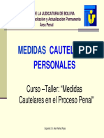 Medidas Cautelares Personales