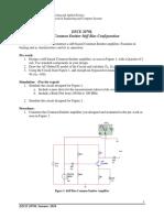 EECE2070 Lab 8 Common Emitter Stiff Bias Configuration