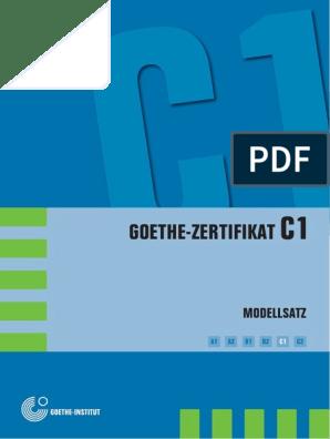 Goethe Zertifikat C1 Modellsatz 05