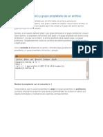 Usuario Propietario y Grupo Propietario de Un Archivo