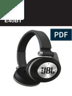 Quick Start Guide - JBL E40 BT