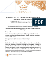 Warning The Salafis About Hidden Haddādis
