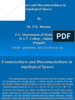 Extension Lectures ( Connectedness and Disconnectedness in topological spaces)