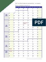 Calendario Escolar 2016 2017 Feriados Latinoamerica Grande