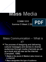 Mass Media Lecture