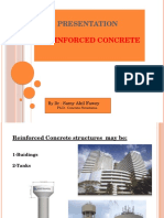 Presentation to concrete structures
