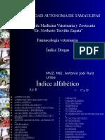 Farmacología veterinaria Índice Drogas