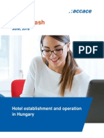 Hotel establishment and operation in Hungary