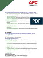 APC UPS Useful Website 2015