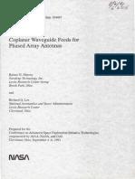 co-planar waveguide feeds