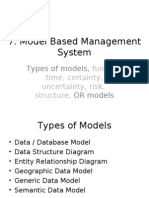 DSS & MIS 07 - Model Based Management System