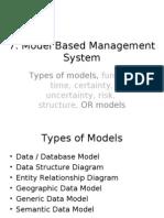 DSS & MIS 07 - Model Based Management System
