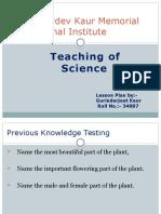 Teaching of Science - 34887