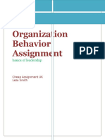 Organization Behavior Assignment
