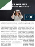 Article Clémence Marie - Faut-il avoir peur de la réalité virtuelle