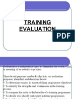 Levels of Training Impact Evaluation