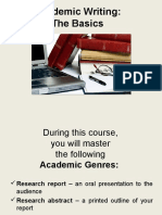 Lecture Academic Writing