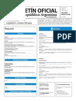 Boletín Oficial de la República Argentina, Número 33.406. 27 de junio de 2016